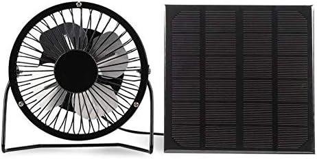 WYANG Mini Ventilador Portátil 3W USB Panel Solar Gable Negro ...