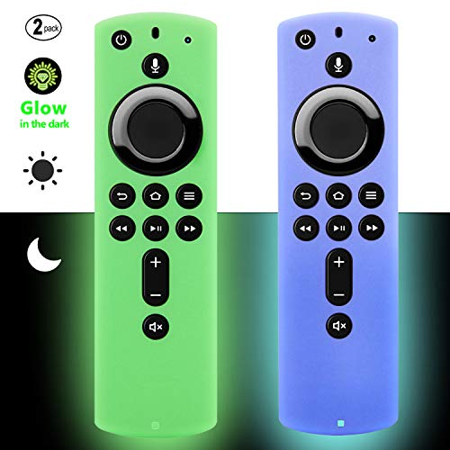 [2 Pack] Firestick Remote Cover Case (Glow in the Dark) Compatible with Fire TV Stick 4K Alexa Voice Remote Control…