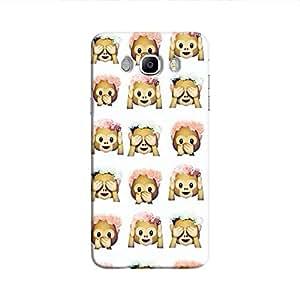 Cover It Up - Flower Monkey Stickers Galaxy J5 2016Hard Case
