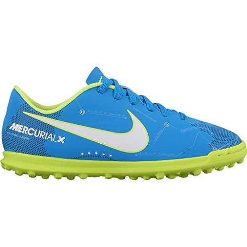 Nike JR MERCURIALX VRTX III NJR TF – Neymar Jr, Unisex Kinder Fußballschuhe, Blau (Blue Orbit/white-blue orbit-armory Navy)