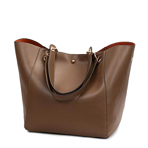 Handbags Leather Ladies Handbags Large Bag Women Bags Classic Shoulder Body Ladies Capacity PU Tote Retro Bags for Cross Leather Khaki Tote Soft wTx6Tg