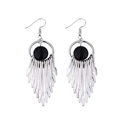 (Jocund Women National Style Popular Simple European and American Earrings Wild Ladies Fashion Jewelry)