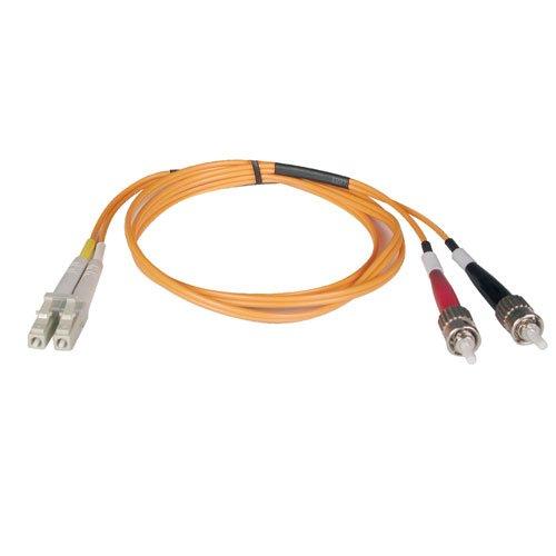 Tripp Lite Duplex Multimode 62.5/125 Fiber Patch Cable (LC/ST), 1M (Multimode Fiber Patch Cord)
