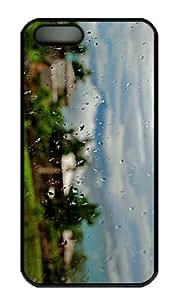 iPhone 5S Case - Customized Unique Design Rainy Day New Fashion PC Black Hard by icecream design