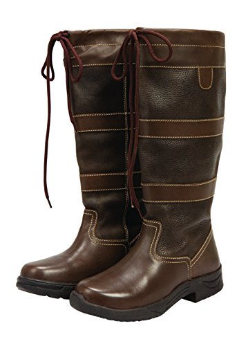Brown Water Womens Resistant Durable Saxon Country Boots New Walking Breathable Long 7vtagnRwqx