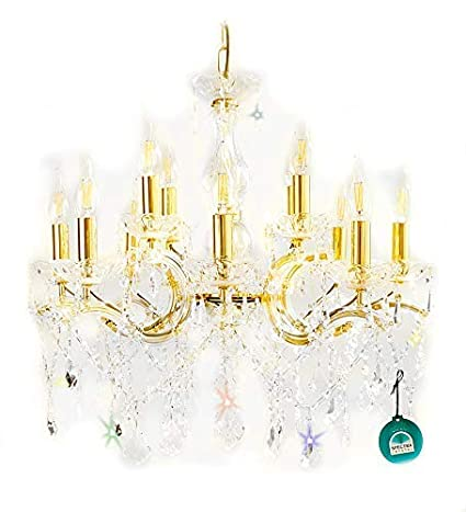 Cristal Araña Candil 12 Lámparas Ø60cm con Spectra Crystal ...