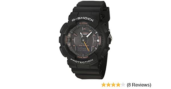 87a64e8f107f Amazon.com  Casio G-Shock S-Series Step Tracker Black Watch GMAS130VC-1A   Watches