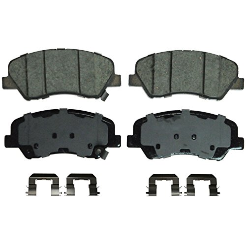Hyundai Accent Brake Pads (Wagner QuickStop ZD1593 Ceramic Disc Pad Set Includes Pad Installation Hardware, Front)
