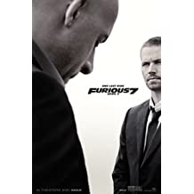 """Fast and Furious 7 Movie Poster (24 x 36"""") (Thick) Paul Walker, Vin Diesel, The Rock, Michelle Rodriguez"""
