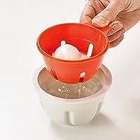 Joseph Joseph M-Cuisine escalfador de Huevos para microondas – Piedra/Naranja, Naranja