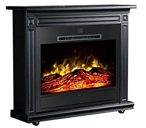 Heat Surge Roll N Glow Amish Electric Fireplace In Classic Black Ev 4 Home Kitchen