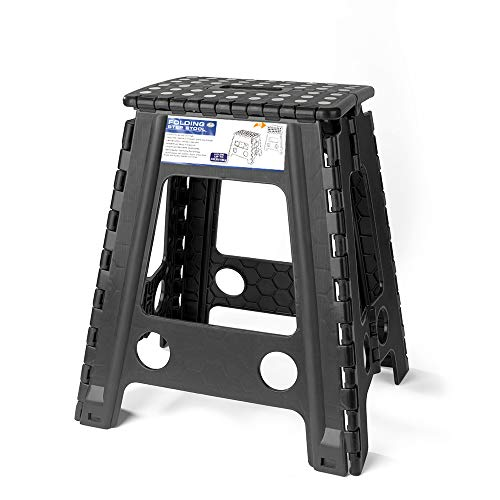 Acko Black 18 Inches Non Slip Folding Step Stool for Kids and Adults with Handle by Acko (Image #6)