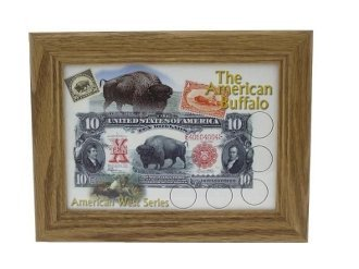 Edgar Marcus The American Buffalo Oak Frame Holds Buffalo Nickel