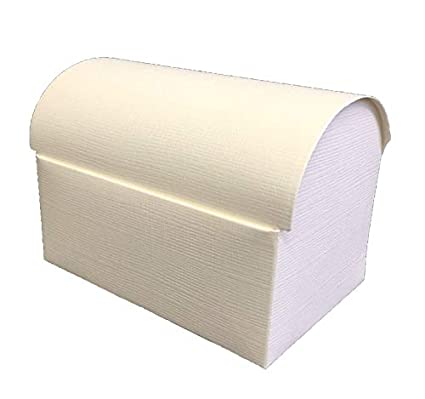 10 cajas estuche Baúl plegable cartón x Bomboniere Marfil 17 ...