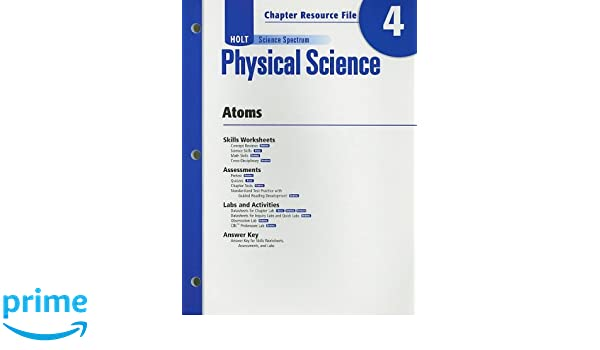 Amazon.com: Holt Science Spectrum: Physical Science with Earth and ...