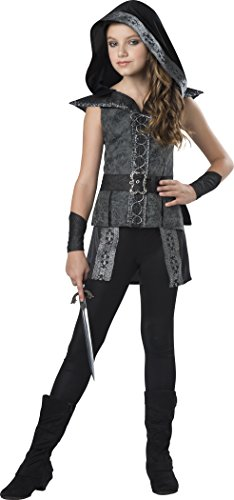 InCharacter Dark Woods Huntress Costume, Black/Gray, Large