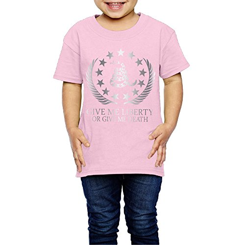 Price comparison product image 2-6 Toddler Girl Dont Tread On Me Snake And Stars Short-sleeve Pink