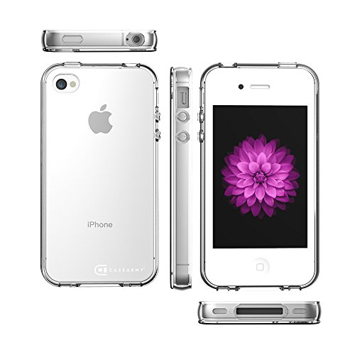 Apple iPhone 4 | 4S Case, Case Army Scratch-Resistant Slim Clear Case for Apple iPhone 4 | 4S | 4G Silicone Crystal Clear Shock-Dispersion Technology Cover with Bumper (Limited