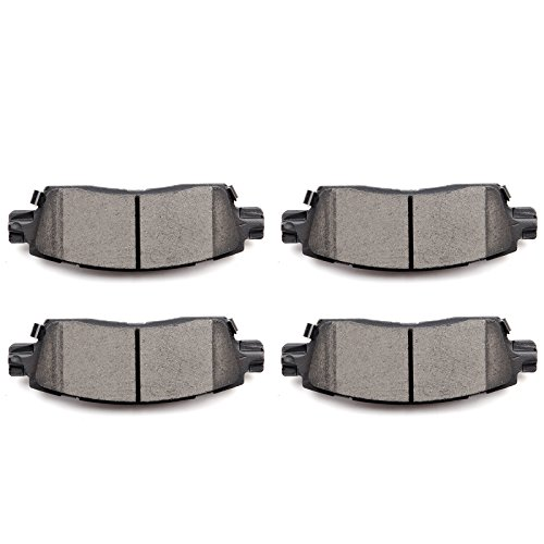 Brake Pads,ECCPP 4pcs Rear Ceramic Disc Brake Pads Kit for Buick Enclave/Rainier,Chevy SSR/Trailblazer/Trailblazer EXT/Traverse,GMC Acadia/Envoy/Envoy XL/Envoy XUV,Oldsmobile Bravada,Isuzu,Saab,Saturn