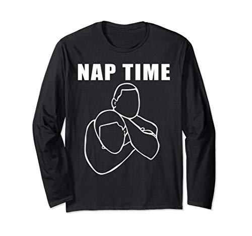Funny Jiu Jitsu Shirt Bjj Tees Nap Time Mma Fighter T-Shirt Long Sleeve T-Shirt]()