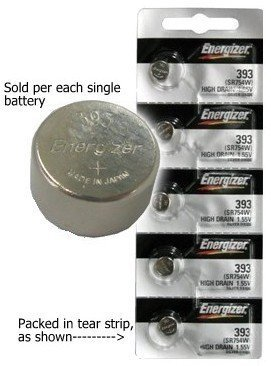 Energizer 393 (309, SR754W, SR754SW) High Drain Silver - Watch Battery 309