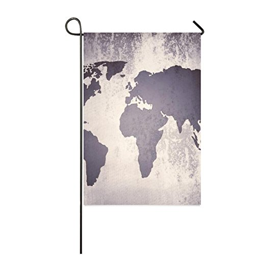 retro print ancient world map