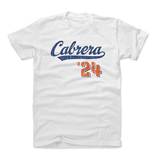 500 LEVEL Miguel Cabrera Cotton Shirt Small White - Detroit Baseball Men's Apparel - Miguel Cabrera Script B