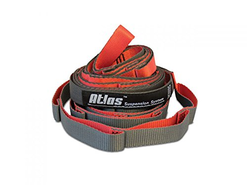 Eagles Nest Outfitters Eno Atlas Chroma Straps, Hammock Suspension Straps, Red/Charcoal