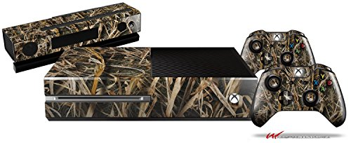 WraptorCamo Grassy Marsh Camo - Holiday Bundle Decal Style Skin Set fits XBOX One Console, Kinect and 2 Controllers (XBOX SYSTEM SOLD SEPARATELY) by WraptorSkinz
