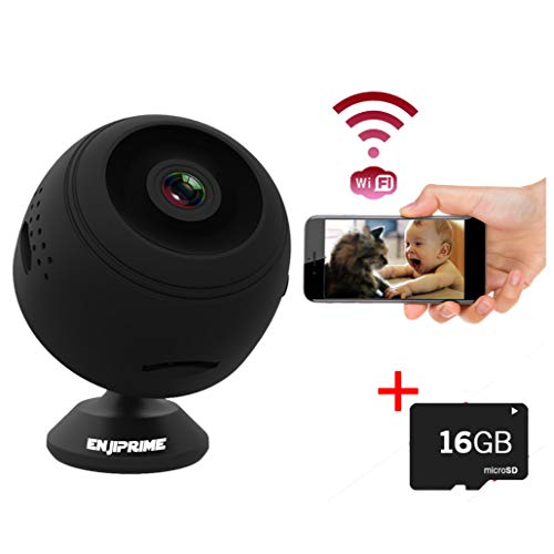 Spy Camera Wireless Hidden Camera – Premium WiFi Enabled Hd 1080p Mini Camera Viewable from Phone Or PC – Black Nanny Camera with Night Vision and Motion Detection