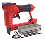 """Pneumatic Staple Gun Kit, KT-50 Type 1/2"""" Wide Crown Air Stapler, 21 Gauge, 1/4-Inch to 5/8-Inch, with 3000 staples and spare parts"""