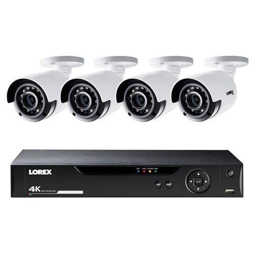 Lorex LHV5100 Series 8-Channel 4K UHD DVR Bundle with 1TB HDD and 4x LBV8531B 4K UHD Network Bullet Cameras with 135' Night Vision, H.264+ Pentaplex Digital Video