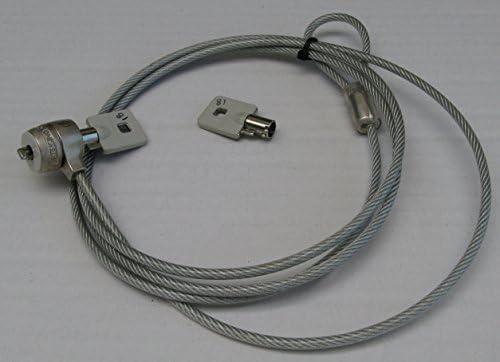 Kensington Candado para portátiles MicroSaver Cable Lock Candado de cable de seguridad para portátil – gris, llaves, plateado.