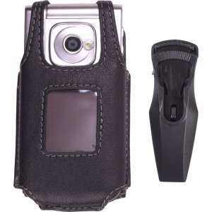 Wireless Solutions New Black Leather Swivel Belt Clip Case for Nokia 7510