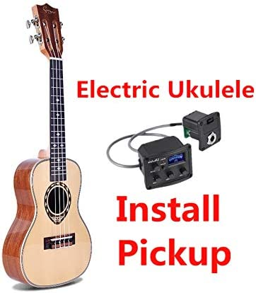 Ukelele 24 26 pulgadas, mini guitarra acústica tenor de concierto ...