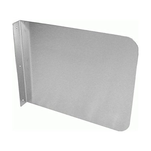 "DuraSteel Stainless Steel Side Splash Guard - 26"" x 12"" Wall Mount - For Commercial Usage - Hand Sinks and Compartment Prep Sinks - Sink Basin Safe Guard/Splatter Guard/Cross Contamination Sink Guard"