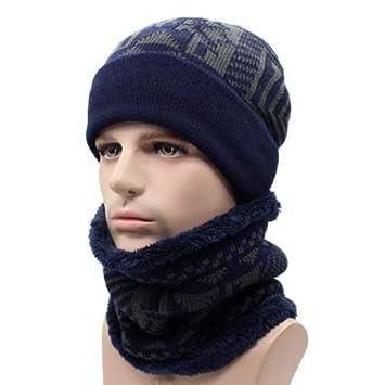 e5a833517e9 HOKUGA 2018 Skullies Beanies Winter Knitted Hat Beanie Scarf Men Winter Hats  For Men Women Caps
