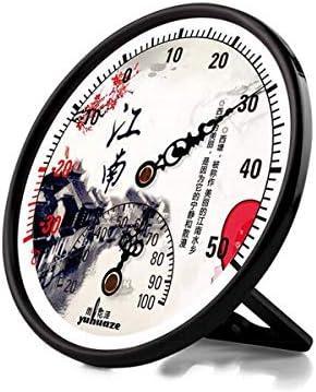 ZHIC ポインター温度計と湿度計、屋内乾湿温度計、オフィスホーム屋内および屋外ベビールームデスクトップ垂直温度計 (Color