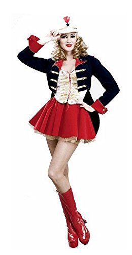 Forum Novelties Women's Designer Collection Deluxe Flirty Toy Soldier Costume, Multi, (Rockettes Toy Soldier)