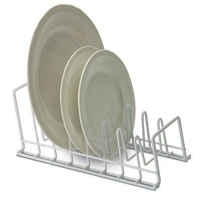 Lid and Plate Holder Rack Organizer Storage Counter Cabinet Pantry Dishes - White  sc 1 st  Amazon.com & Amazon.com: Lid and Plate Holder Rack Organizer Storage Counter ...