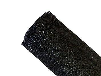 MAILLESTORE Brise-vue 90% - Noir - 185g/m² - Boutonnières Noir 2m x ...