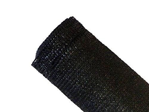 MAILLESTORE Brise-vue 90% - Noir - 185g/m² - Boutonnières Noir 1.8m x 3m
