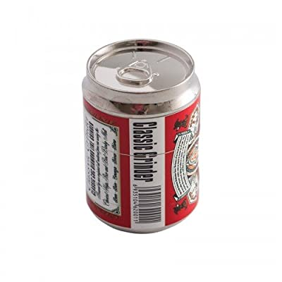 Sun Dragon 4 Piece Red Beer Can Herb Grinder Vintage Design from Sun Dragon