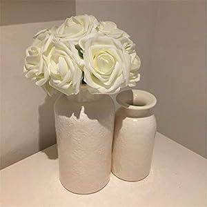 10 Heads 8Cm Pretty Charming Artificial Flowers Pe Foam Rose Flowers Bride Bouquet Home Wedding Decor Scrapbooking DIY Supplies 4