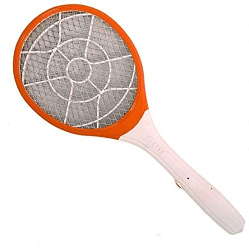 Urwa Rechargeable Electric Mosquito Racket Bug Zapper Fly Swatter and Insect Killer Bat  Multicolours  with Double Torch Lihgt