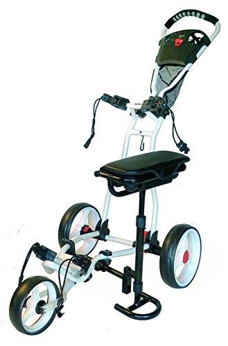 (Spider 3 Wheel Golf Cart with Seat (White))