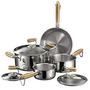 Heuck Zeroca Prestige Stainless Steel Carbon Neutral Cookware Set, 7-Piece