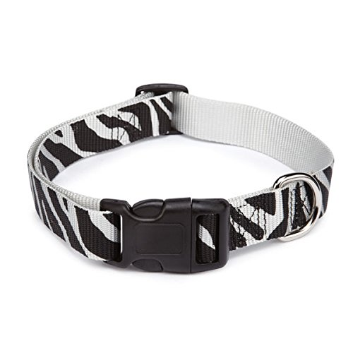 (Animal Print Dog Collar 3 Safari Patterns Collars for Dogs - 4 (Large - 18 to 26 inches Zebra))