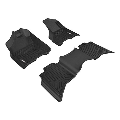 Aries 2801909 Black Custom Fit Floor Mat Complete Kit