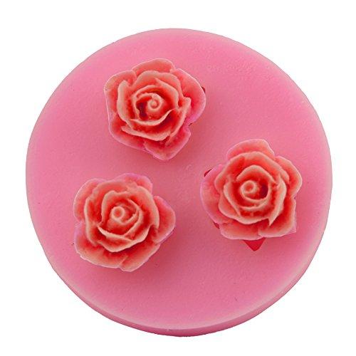 Let'S Diy Rose Silicone Mold Fondant Cake Molds DIY Sugar Craft -
